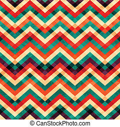 zigzag seamless pattern with grunge effect