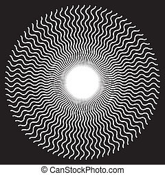 Zigzag Spiral Design Pattern - White on black zigzag spiral...