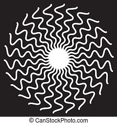 Zigzag Spiral Design Pattern