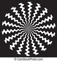 Zigzag Spiral Design Pattern - White on black zigzag spiral ...
