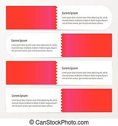 zigzax banner pink color