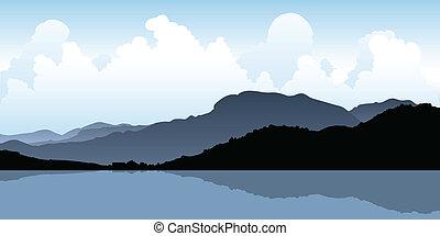 Zihuatanejo, Mexico - Silhouette of the coastal mountains at...