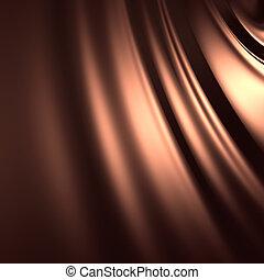 zijdeachtig, abstract, achtergrond, chocolade