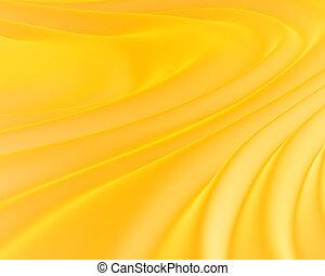 zijdeachtig, gele achtergrond