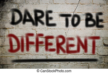 zijn, anders, concept, durven