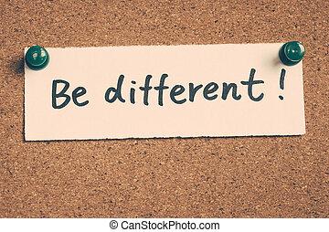 zijn, anders