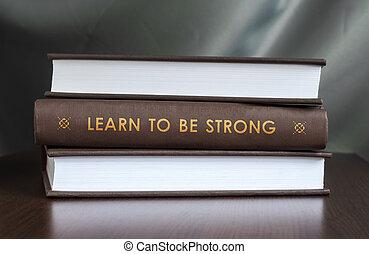 zijn, concept., boek, strong., leren