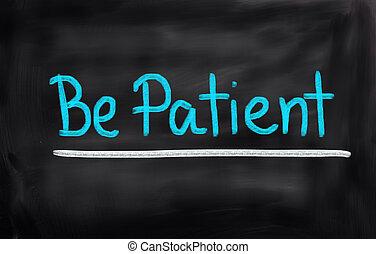 zijn, concept, patiënt