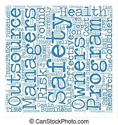 zijn, concept, woord, tekst, meest, waarschijnlijk, veiligheid, achtergrond, gezondheid, wolk, outsourced