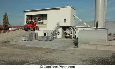 zijn, container, product, heeft, roof., groenteblik, tractor...