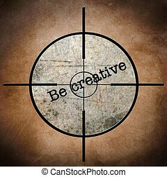 zijn, doel, creatief