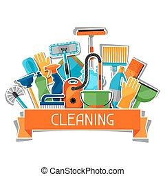 zijn, gebruikt, huishouding, groenteblik, media, sticker,...