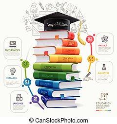 zijn, gebruikt, illustration., diagram, workflow, opties, op, getal, opmaak, infographics., vector, boekjes , groenteblik, stap, spandoek, web, opleiding, design.