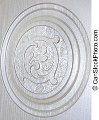 zijn, gebruikt, ornament, textuur, knippen, groenteblik, achtergrond, uit, plank