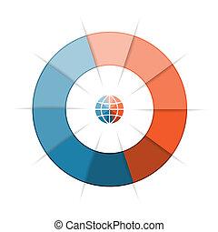 zijn, gebruikt, tien, tekst, opties, getal, infographics, groenteblik, mal, stappen, ring