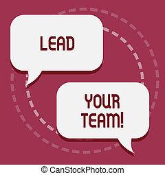 zijn, goed, jouw, zakelijk, lood, foto, het tonen, verkrijgen, schrijvende , showcasing, team., vervullen, hand, goals., succes, conceptueel, leider