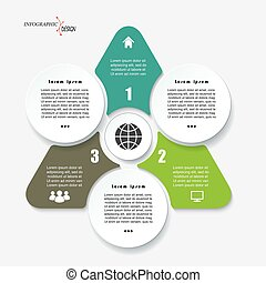 zijn, grafisch, concept, driehoek, zakelijk, web, segments., workflow, opmaak, gebruikt, diagram, of, presentatie, 3, infographic, ontwerp, getallen, mal, opties, ontwerp, groenteblik