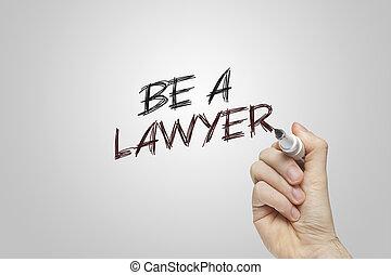 zijn, hand, advocaat, schrijvende