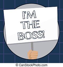 zijn, of, het tonen, zakelijk, foto, boss., bijzonder, m, schrijvende , werk, situation., hand, tekst, conceptueel, een, orders, geeft