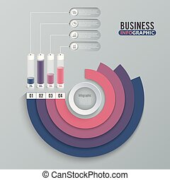zijn, stijl, gebruikt, illustration., zakelijk, workflow, opties, getal, op, diagram, opmaak, vector, spandoek, web, infographics, stap, origami, cirkel, design., groenteblik