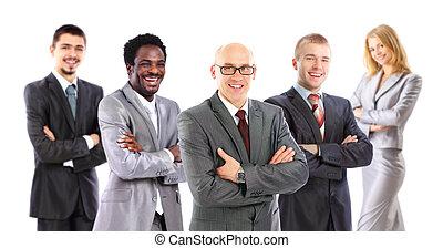 zijn, team, zakelijk, leider