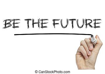 zijn, toekomst, hand het schrijven