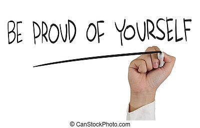 zijn, trots, je