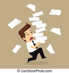 zijn, uitvoeren, vasthouden, documenten, partij, handen, ...