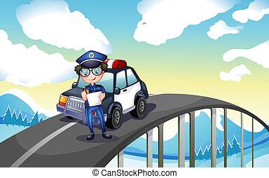 zijn, wegenwacht, middelbare , officier, straat