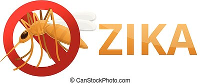 Zika icon, cartoon style - Zika icon. Cartoon of zika vector...