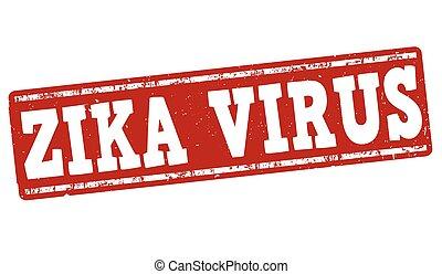 zika, vírus, bélyeg
