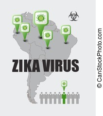 Zika virus - infographic elements concept vector...