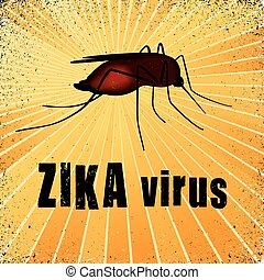 Zika Virus Mosquito - Zika virus mosquito, graphic...