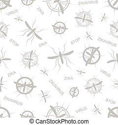 Zika virus seamless pattern. Aedes Aegypti texture...