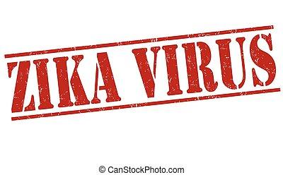 Zika virus stamp