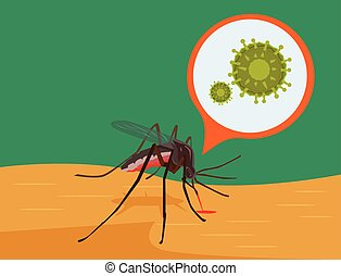 Zika Virus. Vector flat illustration