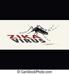 Zika virus with mosquito.