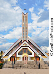 zilina, 天国, キリスト教徒, 現代, slovakia., 背景, 教会