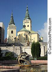 Zilina church - Church of Holy Trinity (slovak: kostol...