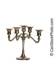 zilver, candelabra, antieke