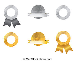 zilver, goud, zegels