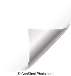 zilver, pagina, krul