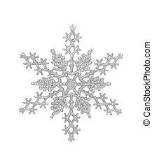 zilver, sneeuwvlok