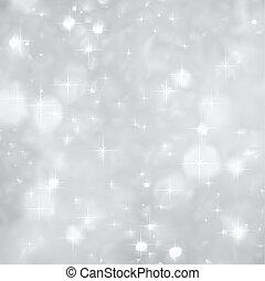 zilver, vonkeelt, achtergrond, kerstmis., vector