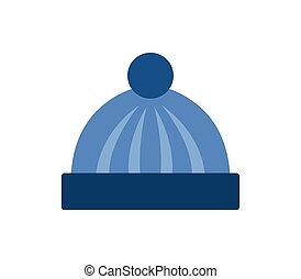 zima, čapka, ikona