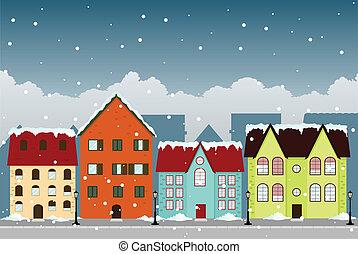 zima, miasto