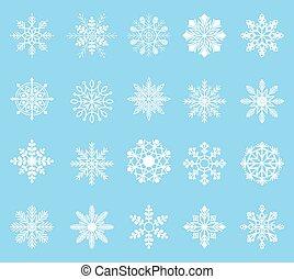 zima, płatek śniegu, komplet