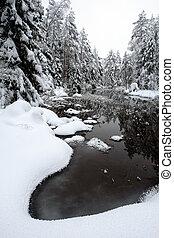 zima rzeka