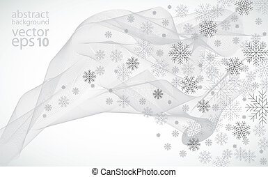 zima, tło, wektor, illustrat