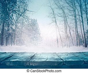zima, tło